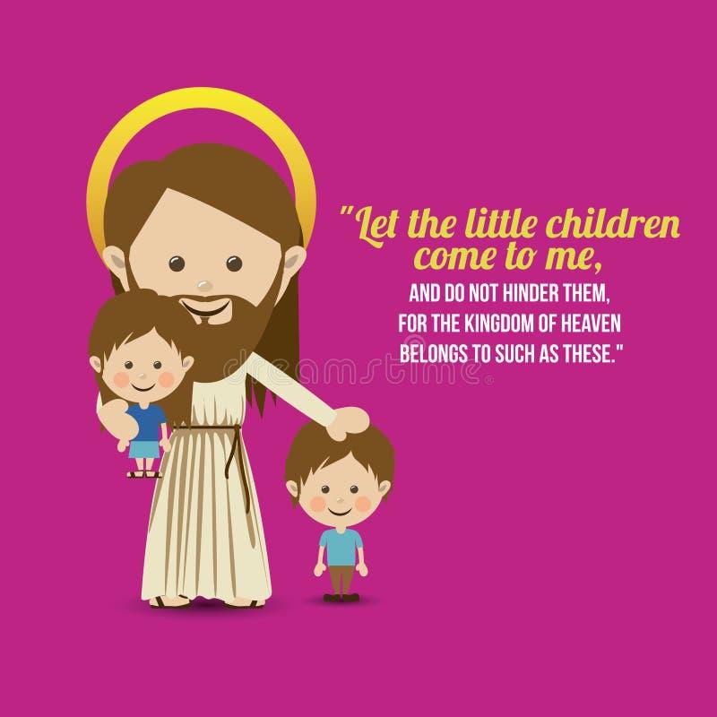 Jesuschrist. Design over purple background vector illustration royalty free illustration