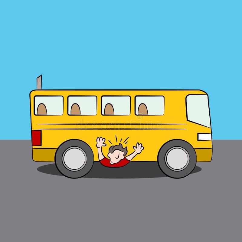 Jeté sous l'autobus illustration stock