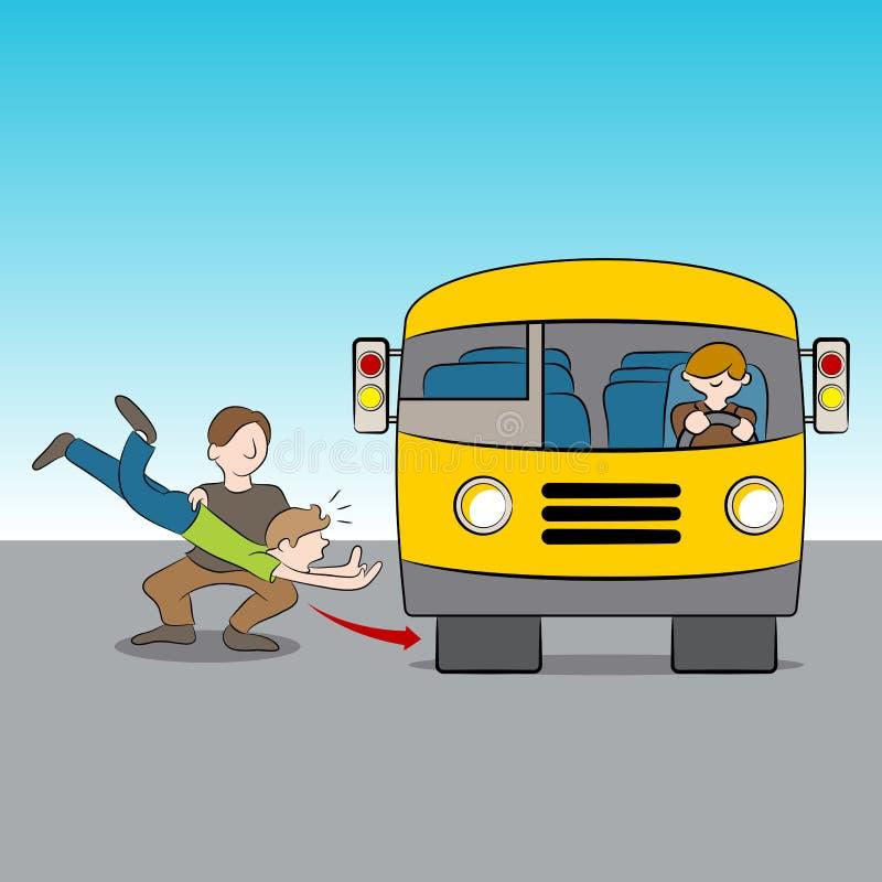 Jeté sous l'autobus illustration libre de droits