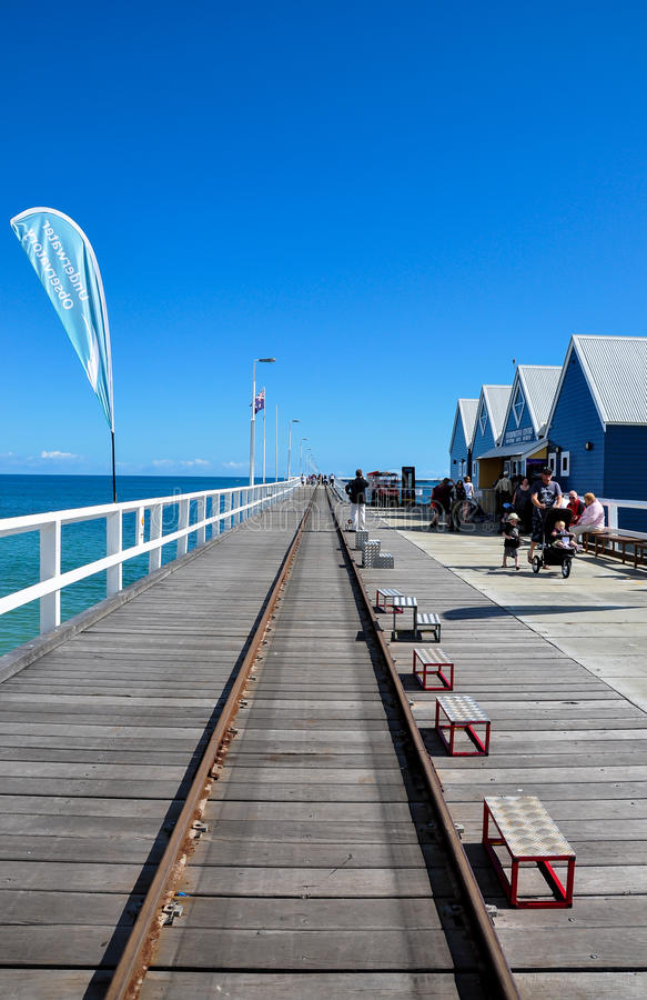Jetée de Busselton, Busselton, Australie occidentale photos libres de droits