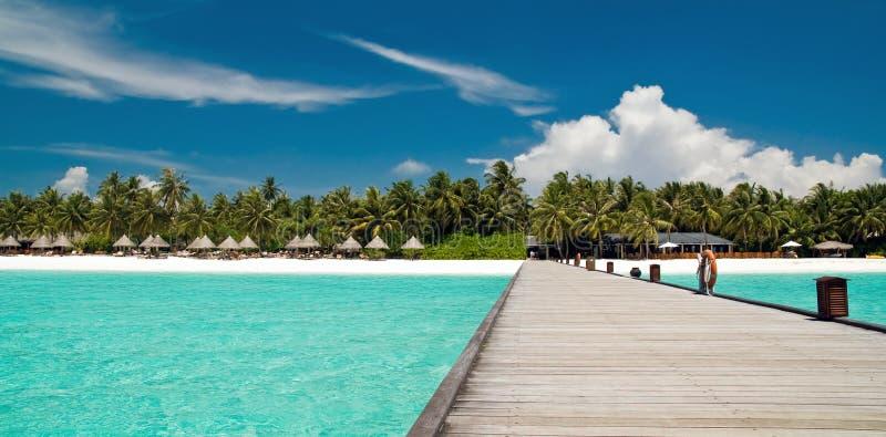 jetée de plage tropicale photographie stock