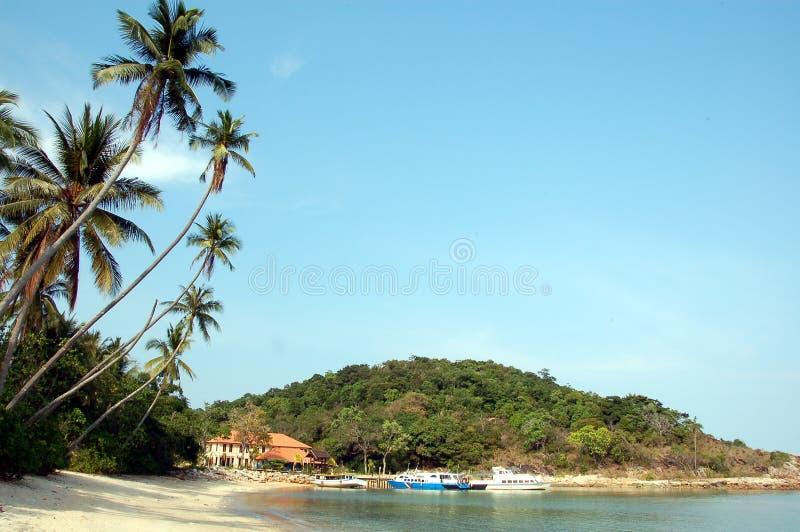 Jetée de ressource d'île photographie stock libre de droits