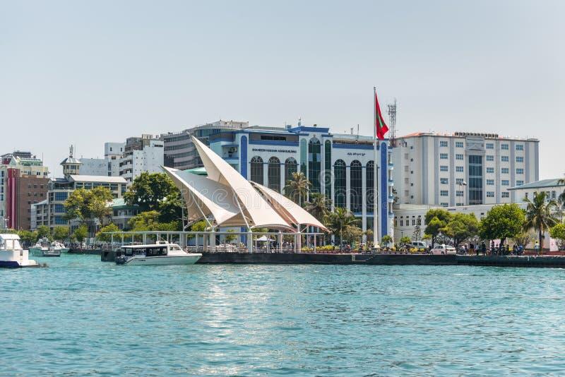 Jetée présidentielle en île masculine République des Maldives photo stock