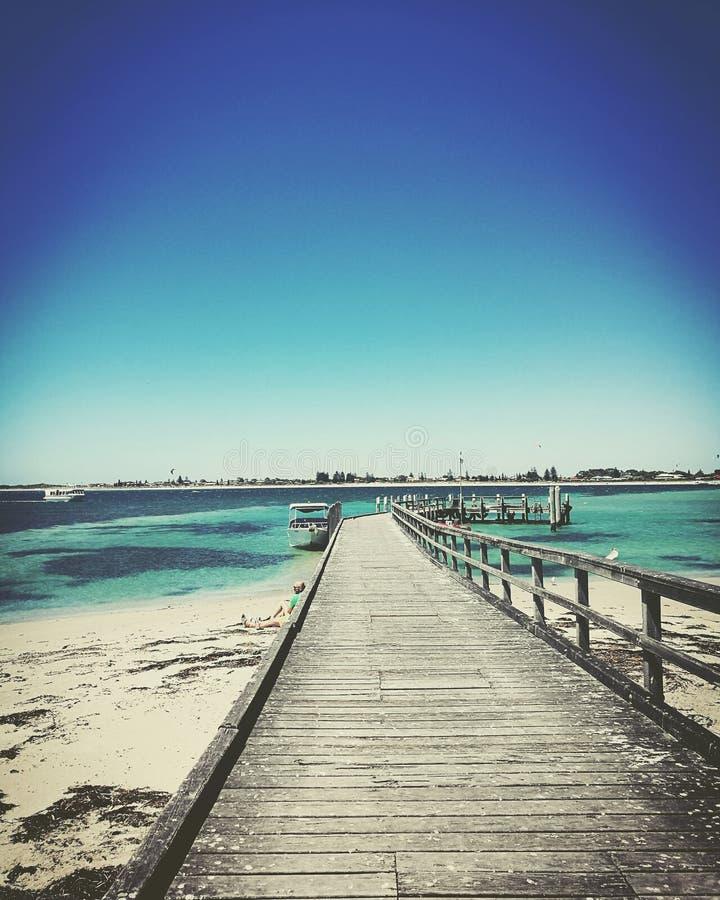 Jetée sur Rockingham Perth photos libres de droits