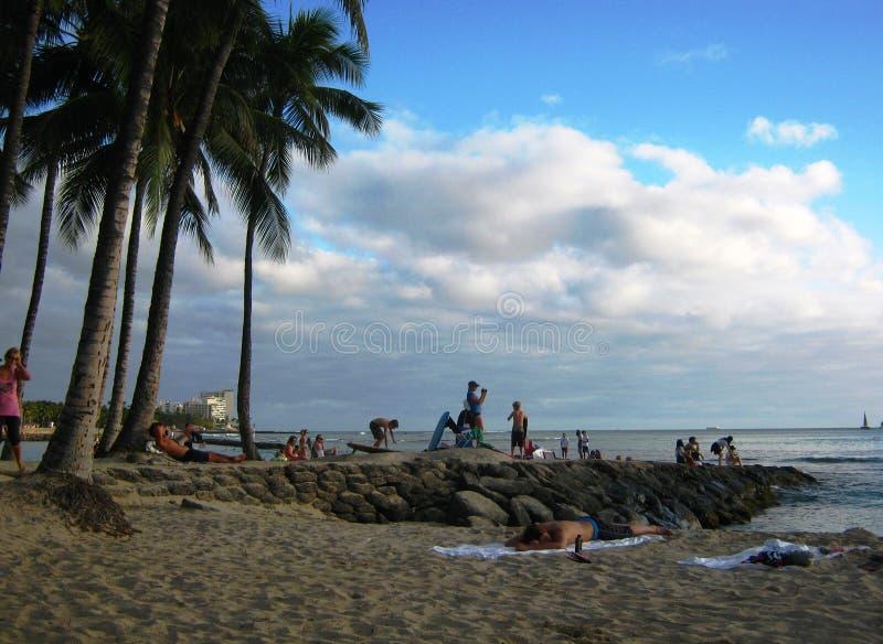 Jetée sur Waikiki photos libres de droits