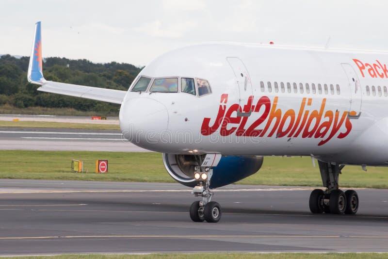 Jet2 праздники Боинг 757 стоковые изображения rf