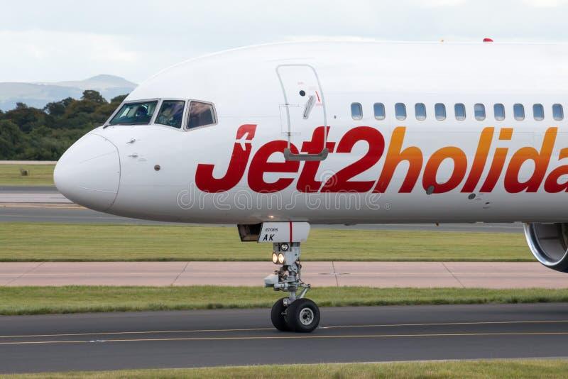 Jet2 праздники Боинг 757 стоковая фотография