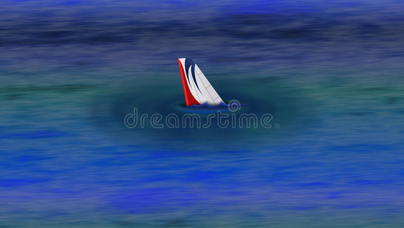 Jet Aeroplane Shark Fin stock illustration