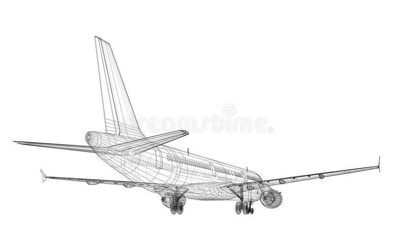 Jet Aircraft royalty free illustration