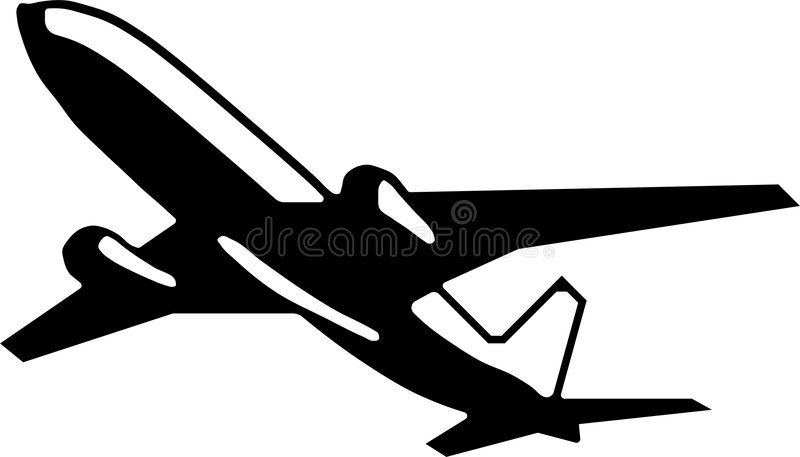 Download Jet aircraft stock illustration. Image of lift, airline - 4745440