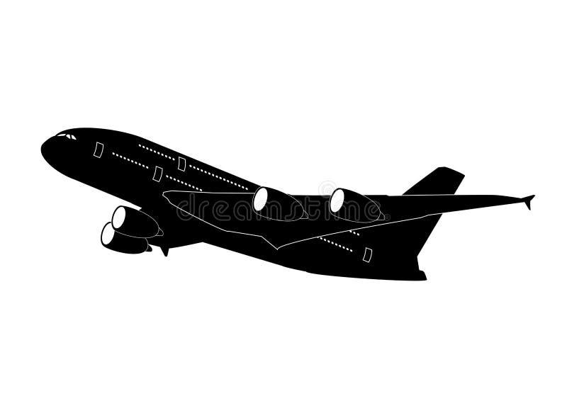 Jet Airliner ilustración del vector