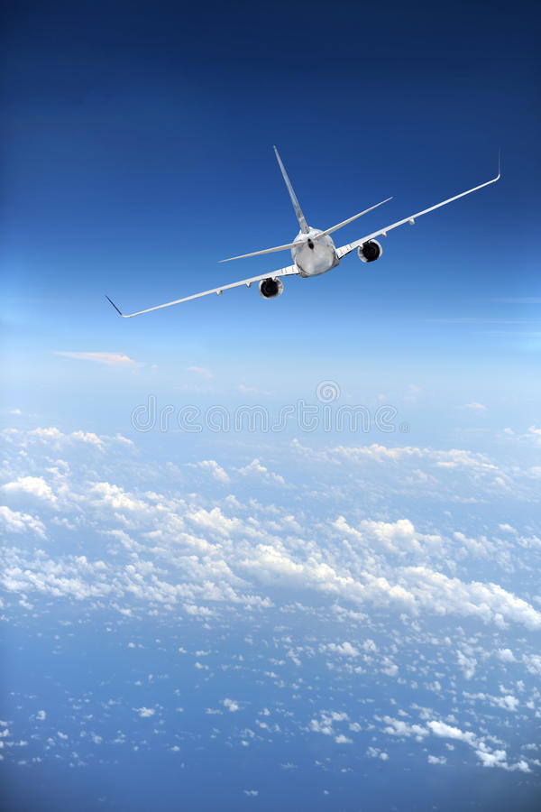 Download Jet Airliner in flight stock photo. Image of flight, space - 14830074