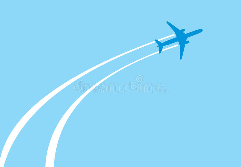 Download Jet airplane stock vector. Image of path, blue, image - 23001680