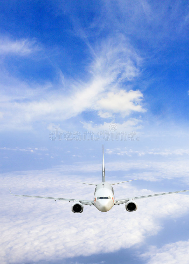 Jet airplane royalty free stock photography