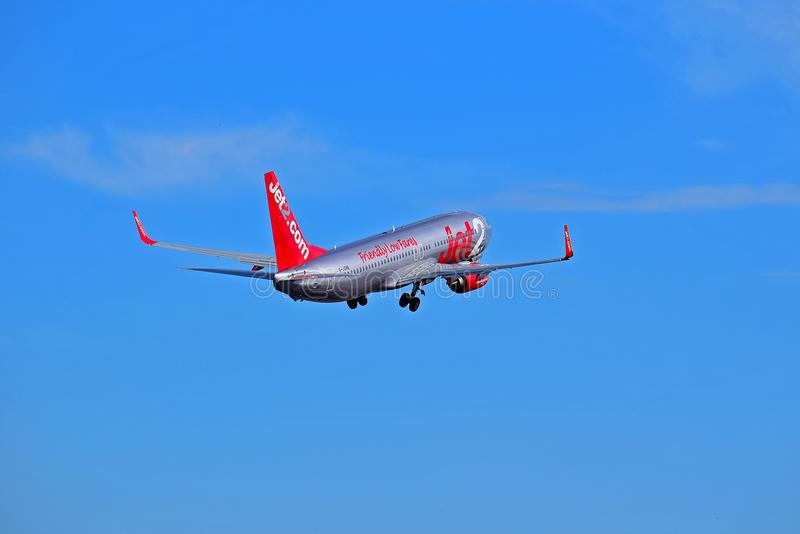 Jet2 Airplane In A Blue sky royalty free stock images