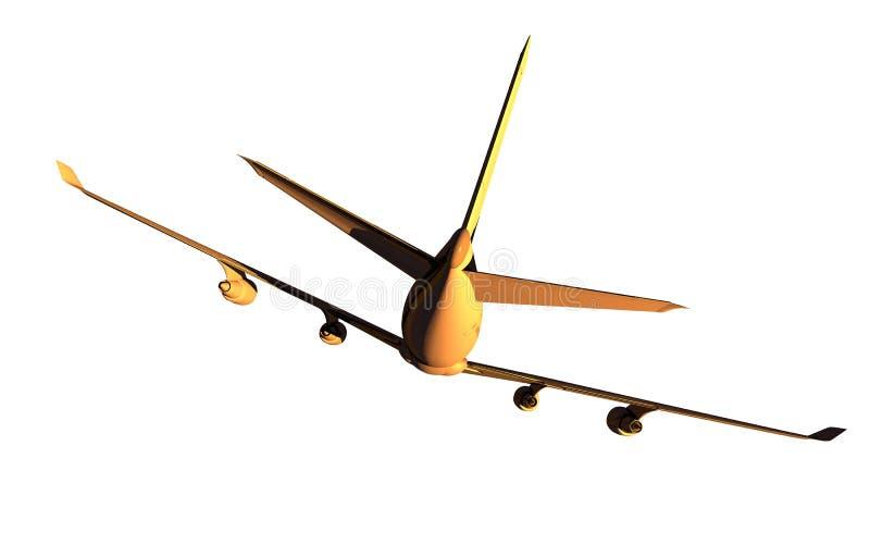 Jet Airplane quatre moteurs illustration de vecteur