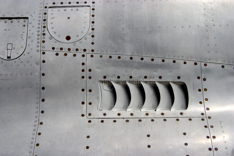 Jet Airplane Skin Detail stock images