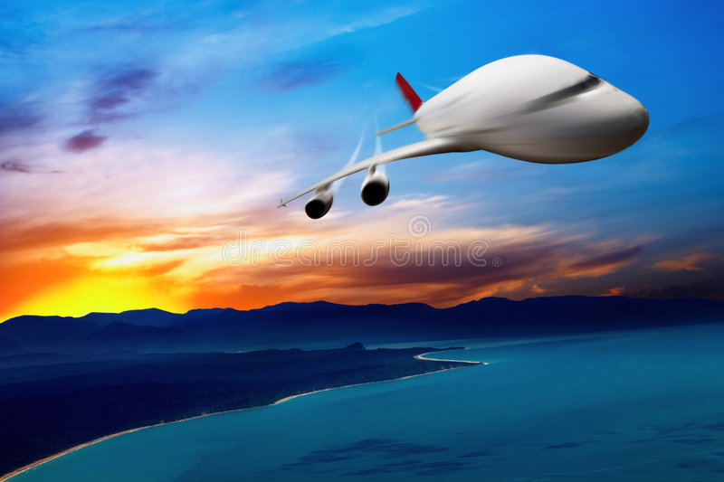 Download Jet airplane in the sky stock image. Image of liner, huge - 8362399
