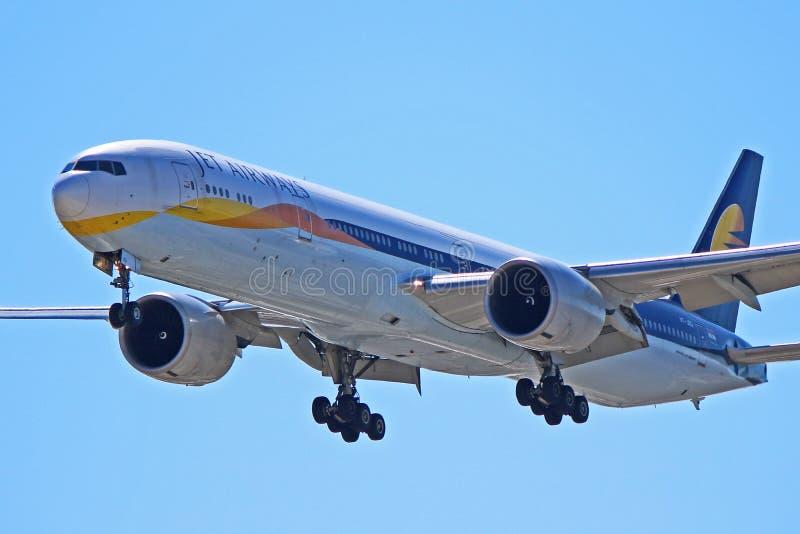 Jet Airways Boeing 777-300ER VT-JEQ photo stock