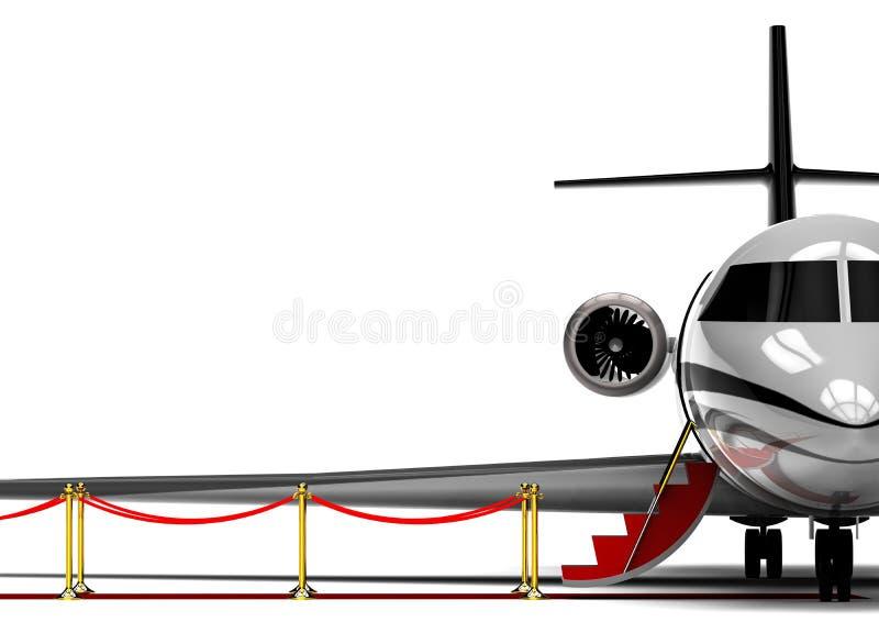 Jet-avion privé de tapis rouge illustration libre de droits