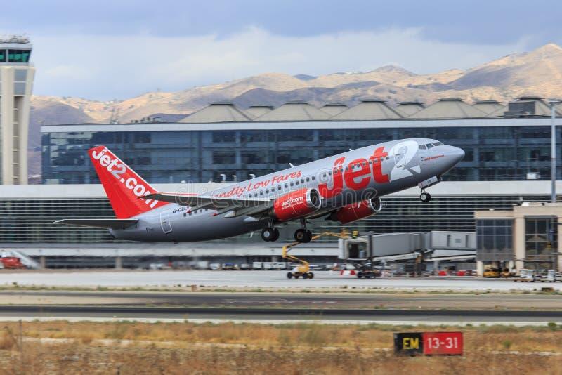 Jet2 Boeing Start lizenzfreies stockfoto