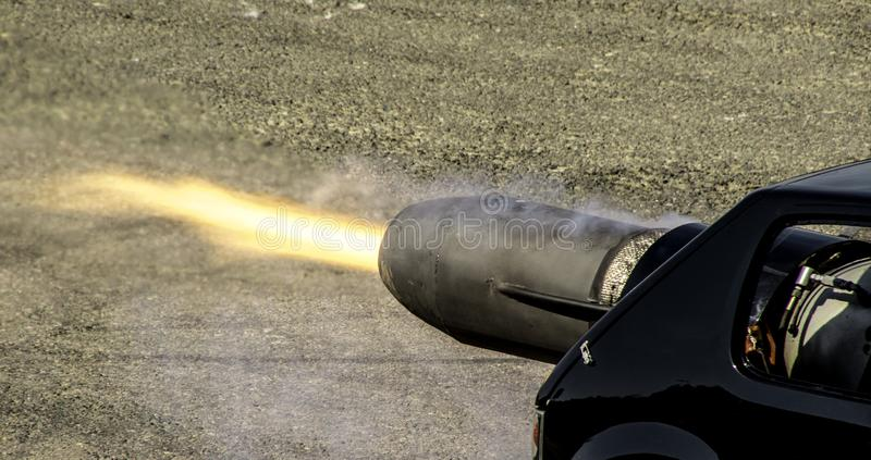Jet Car. An incredible vehicle used for entertainment at motor shows, this is a jet car with an immense amount of horsepower stock image