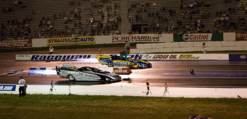 Jet cars racing royalty free stock photo
