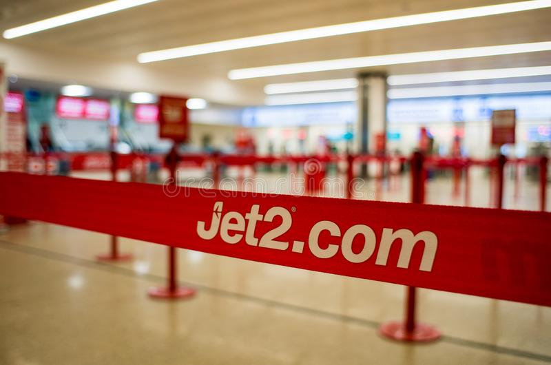 Jet2 check in counter royalty free stock photography