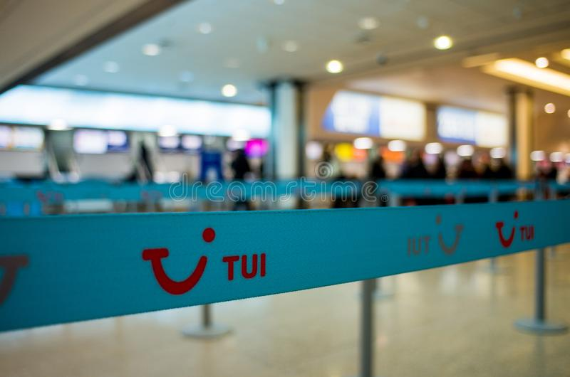 Jet2 check in counter royalty free stock images