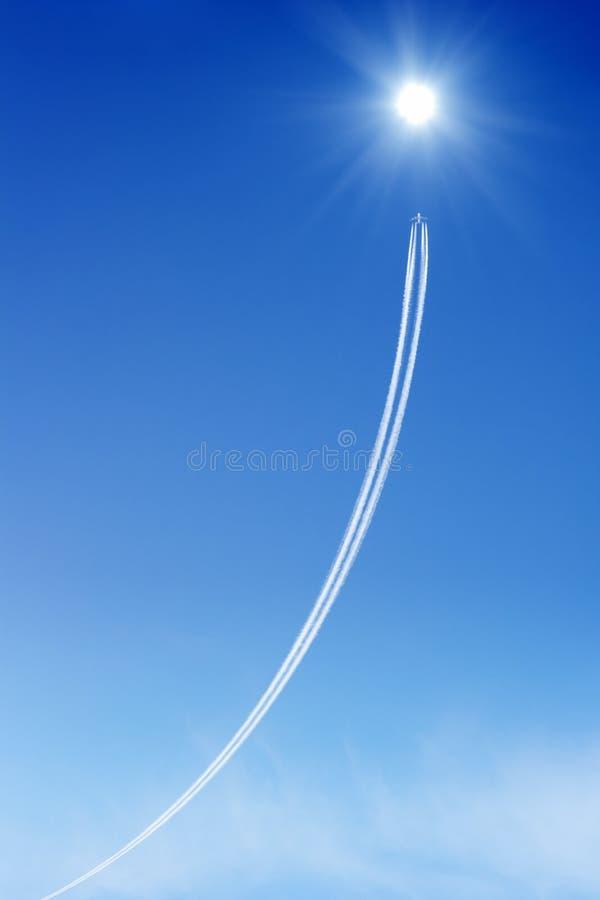 Jet in cielo fotografia stock libera da diritti