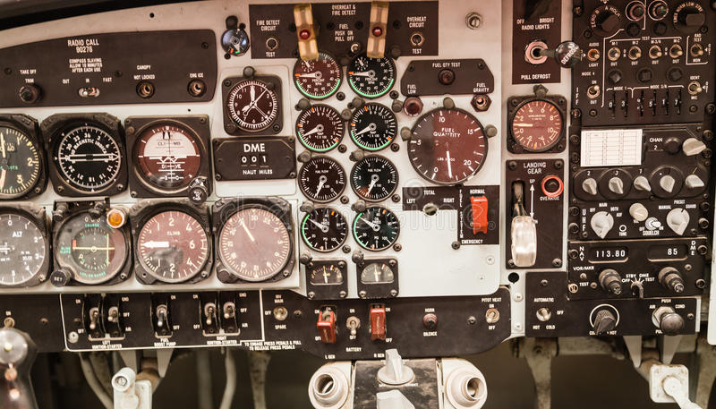 Jet Cockpit Instrument Display stock images