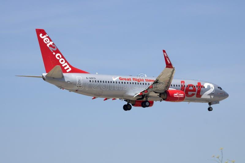 Jet2 COM 737 σε σύντομα τελικά στοκ φωτογραφία με δικαίωμα ελεύθερης χρήσης