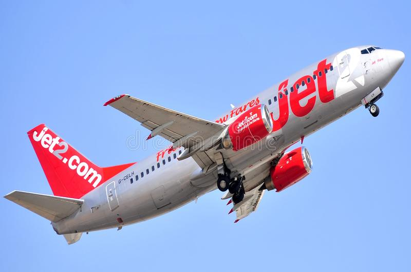 Jet2com airline company boeing aircraft flying sky
