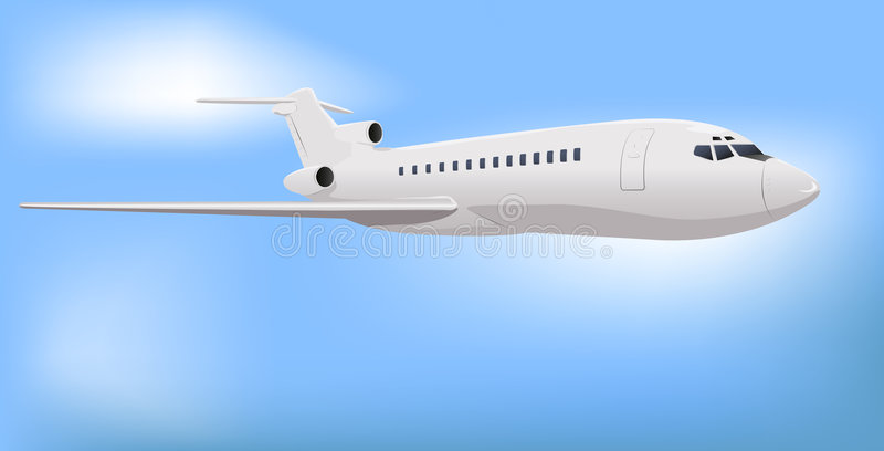 Download Jet commerciale privato illustrazione vettoriale. Immagine di illustrazione - 9037570
