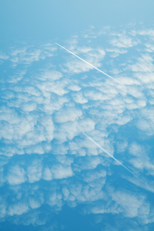 Download Jet contrail stock image. Image of pollution, across - 10867763