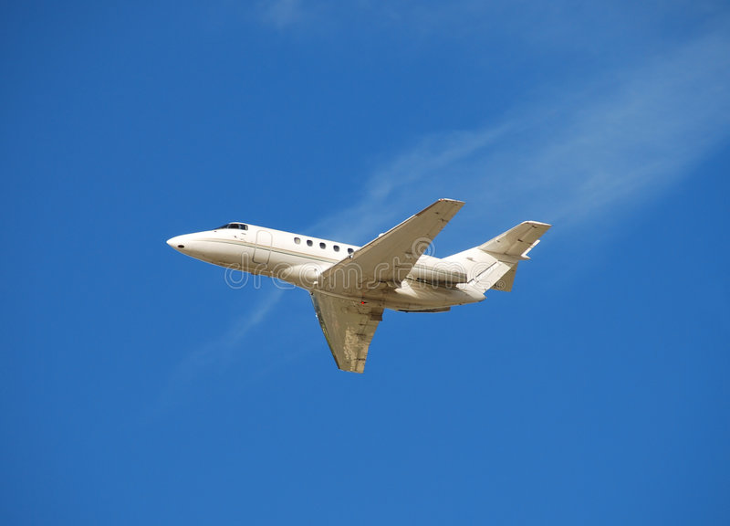 Jet corporativo de lujo fotografía de archivo