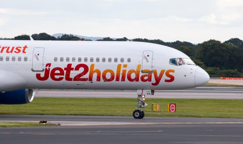Jet2 días de fiesta Boeing 757 fotos de archivo