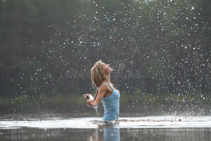 Jet d'eau images stock