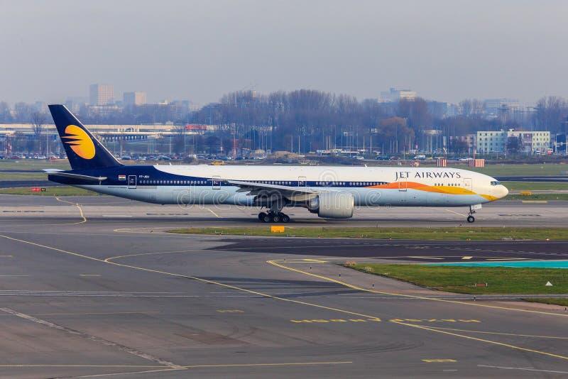Jet de Jet Airways Boeing 777 photo libre de droits