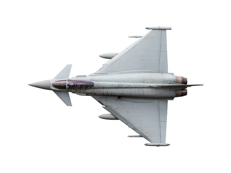 Jet de Eurofighter Typhoon aislado fotos de archivo