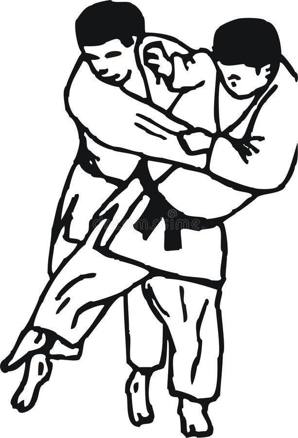 Jet de judo illustration de vecteur