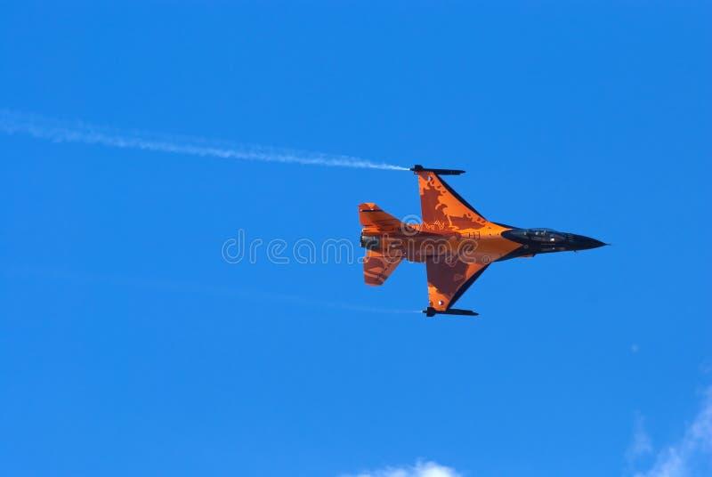 Jet de la visualización del halcón que lucha F-16 imágenes de archivo libres de regalías