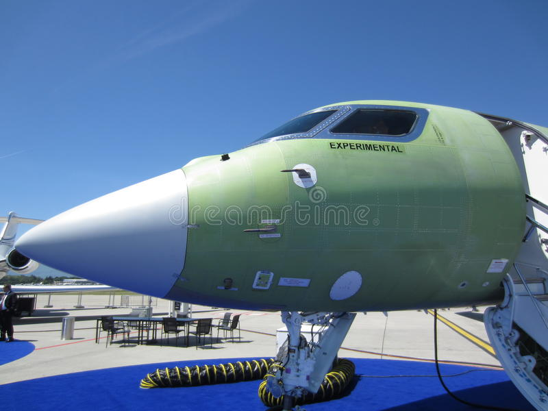 Jet del asunto de Gulfstream 650 foto de archivo