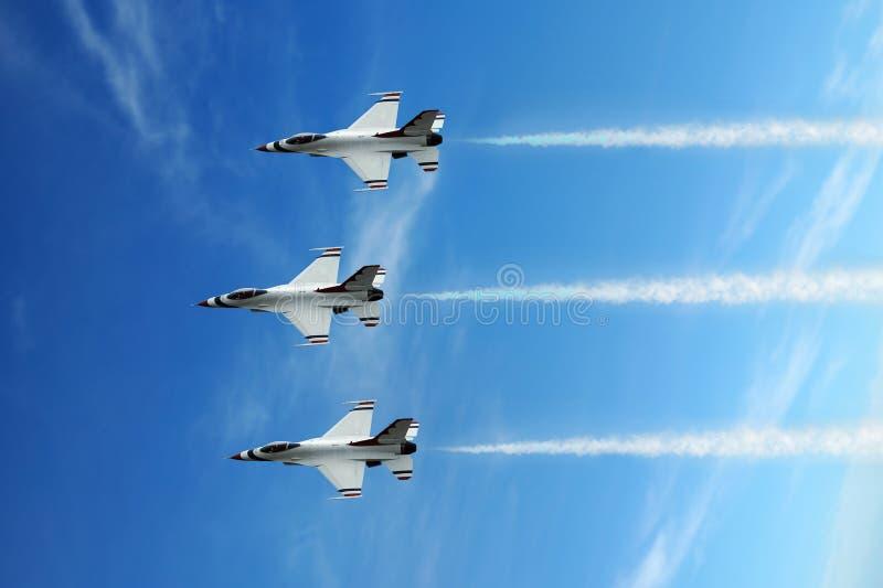 Jet di esposizione di aria fotografie stock
