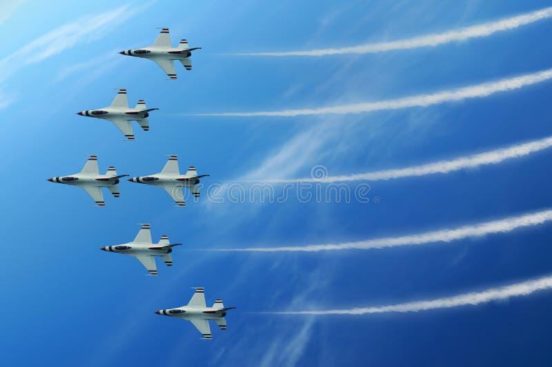 Jet di esposizione di aria fotografia stock