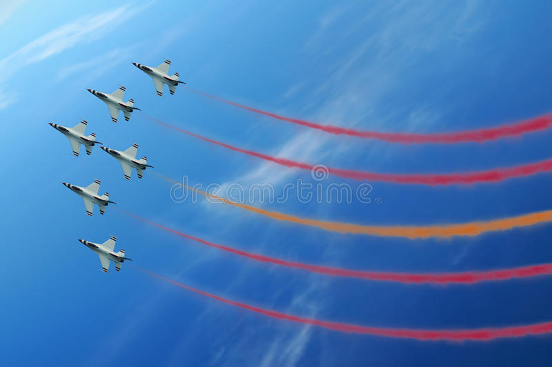 Jet di esposizione di aria fotografia stock libera da diritti