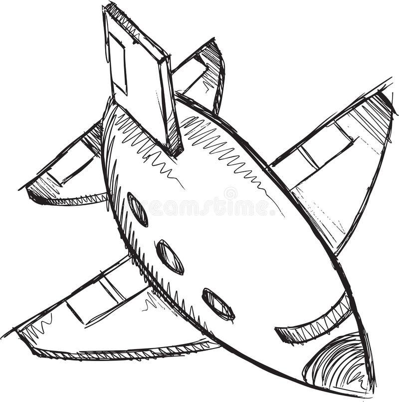 Jet Doodle Vector stock illustrationer
