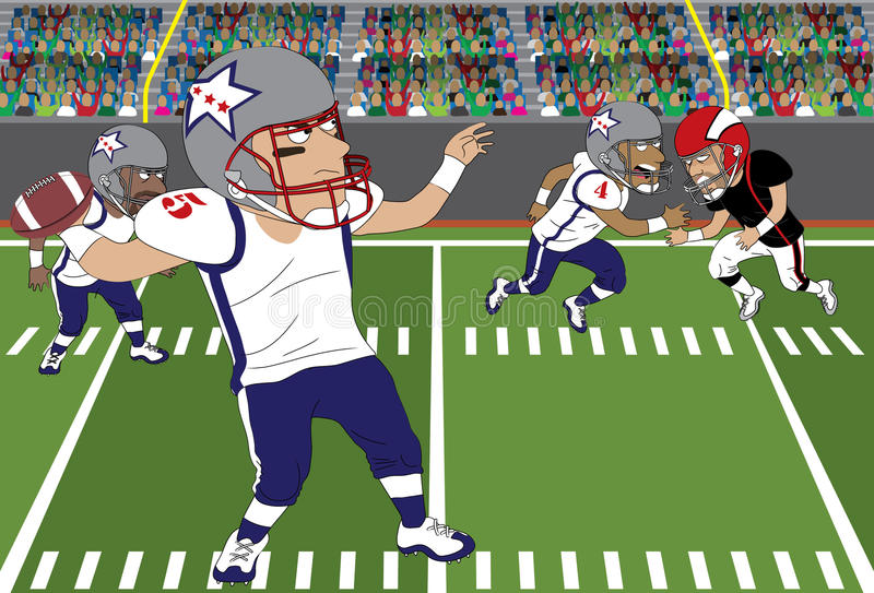 Jet du football illustration libre de droits