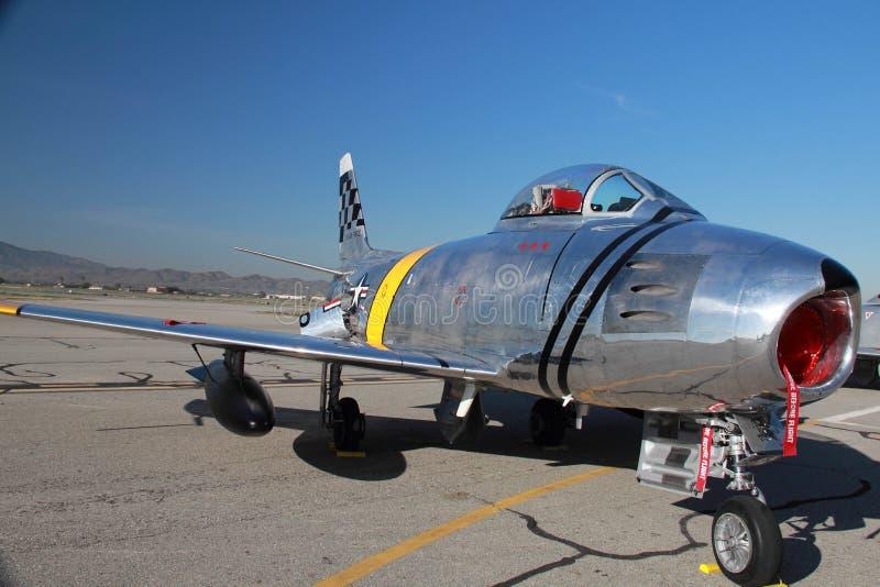 Jet du sabre F-86 photos stock
