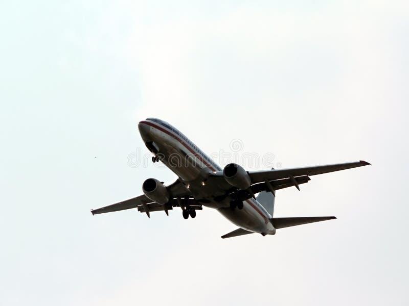 Jet durante il volo immagine stock